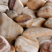 Decorative Pebbles - Stripes - 12L - 3/6 cm